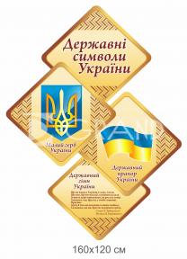 Стенд державна символіка України з ромбиками